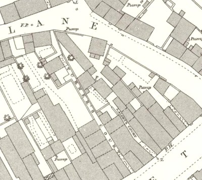 Plan of the area in 1884