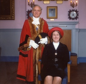The Town Mayor and Mayoress in 1979