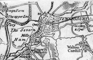 1835 map showing race course