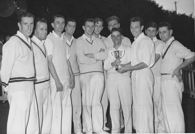 Tewkesbury CC 1960 having won the 'Hospital Cup'