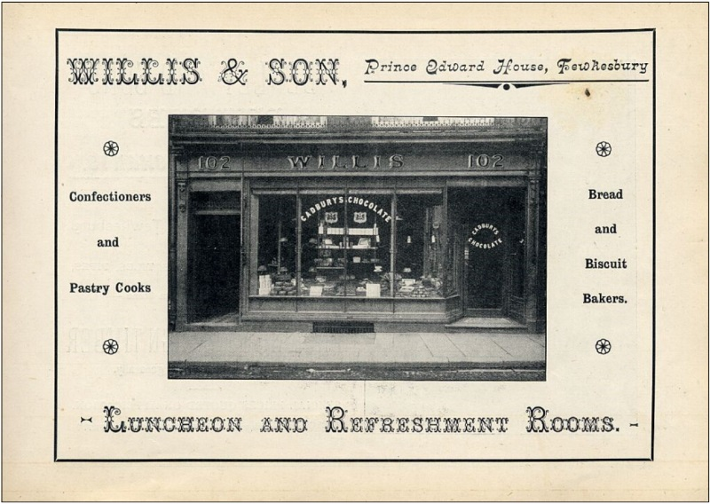 Willis Confectioner, 102 Church Street in the early 1900's
