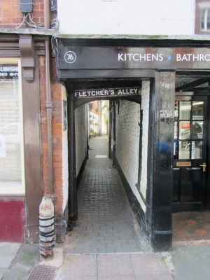Fletchers Alley entrance