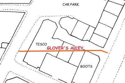 Glovers Alley location